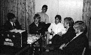 """Per, """"Jacken"""", Nils, Eigil og Arne intervjues av Studentradioen"""