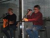 """Eigil og Svein med akustisk live """"Mer Enn Okey"""". Popsenteret Oslo 25. april 2014."""